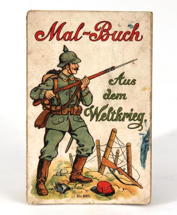 Malbuch aus dem Ersten Weltkrieg