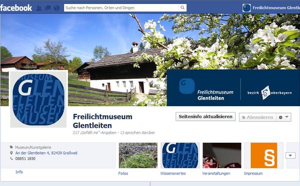 Facebook-Fanseite der Glentleiten