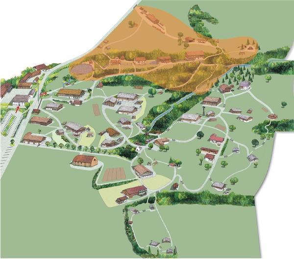 Geländeplan Areal Mühlen