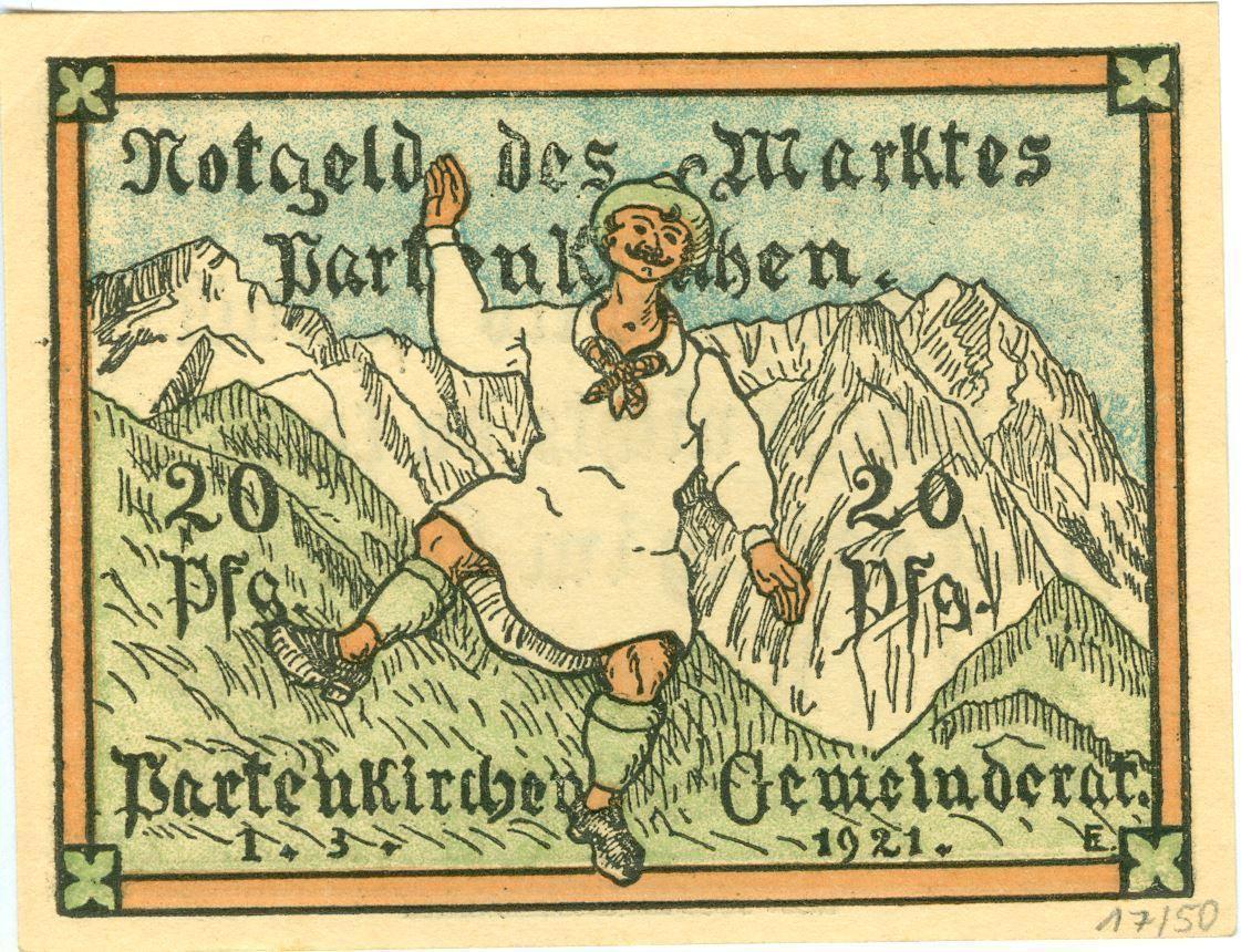 Notgeld des Marktes Partenkirchen, 20 Pfennig, 1921